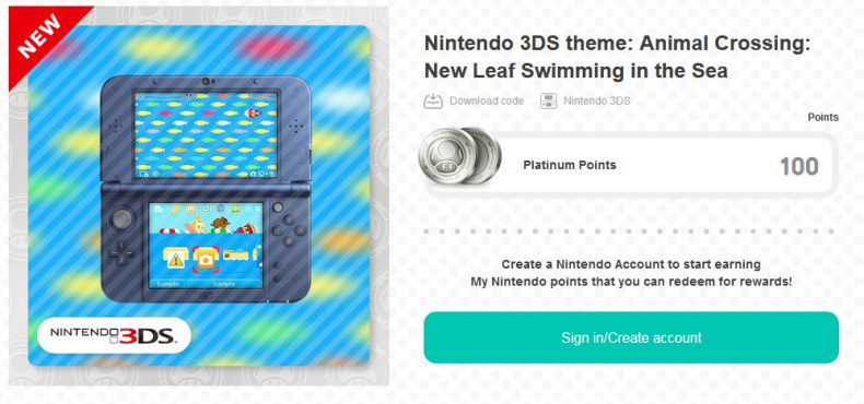 Nintendo 3DS Theme – Animal Crossing New Leaf Swimming in the Sea walk through AC Swimming
