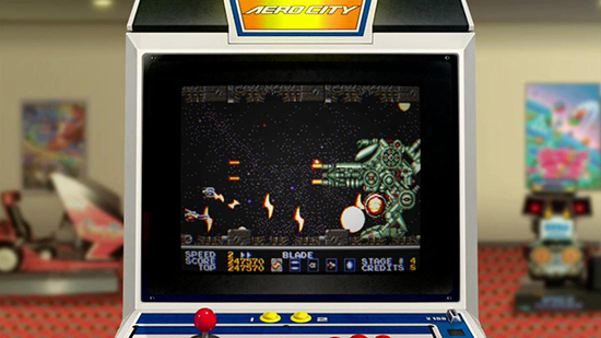 Thunder Force AC arcade view