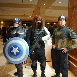 2 Captain America's and Winter Soldier at A-Kon 27