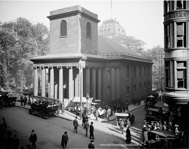 Boston, Massachusetts, King's Chapel and Burying Ground, 1900-1910, historic photo