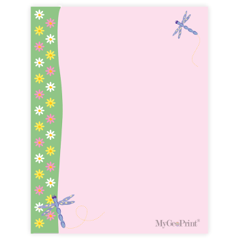 Daisies and Dragonflies Letterhead