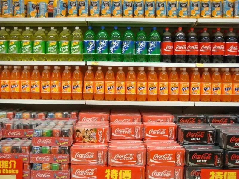 Coca cola in supermarket