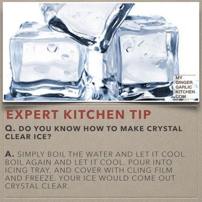 Do you know how to make crystal clear ice – [Kitchen -Tips]