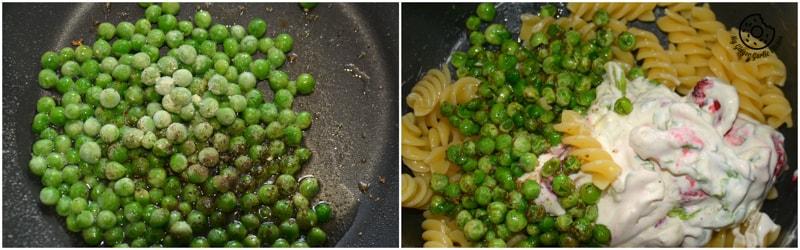 recipe-creme-fraiche-raspberry-peas-pasta|mygingergarlickitchen.com/ @anupama_dreams
