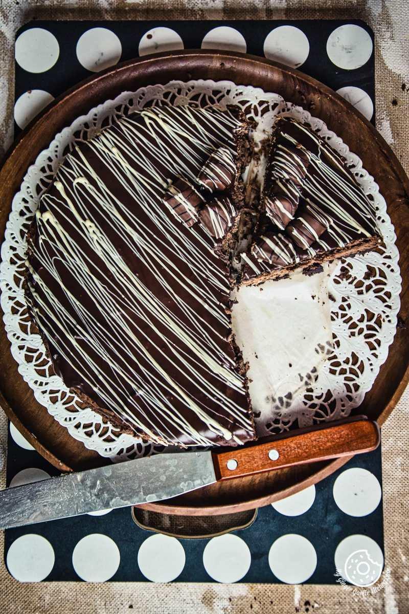 Chocolate Cheesecake | mygingergarlickitchen.com/ @anupama_dreams
