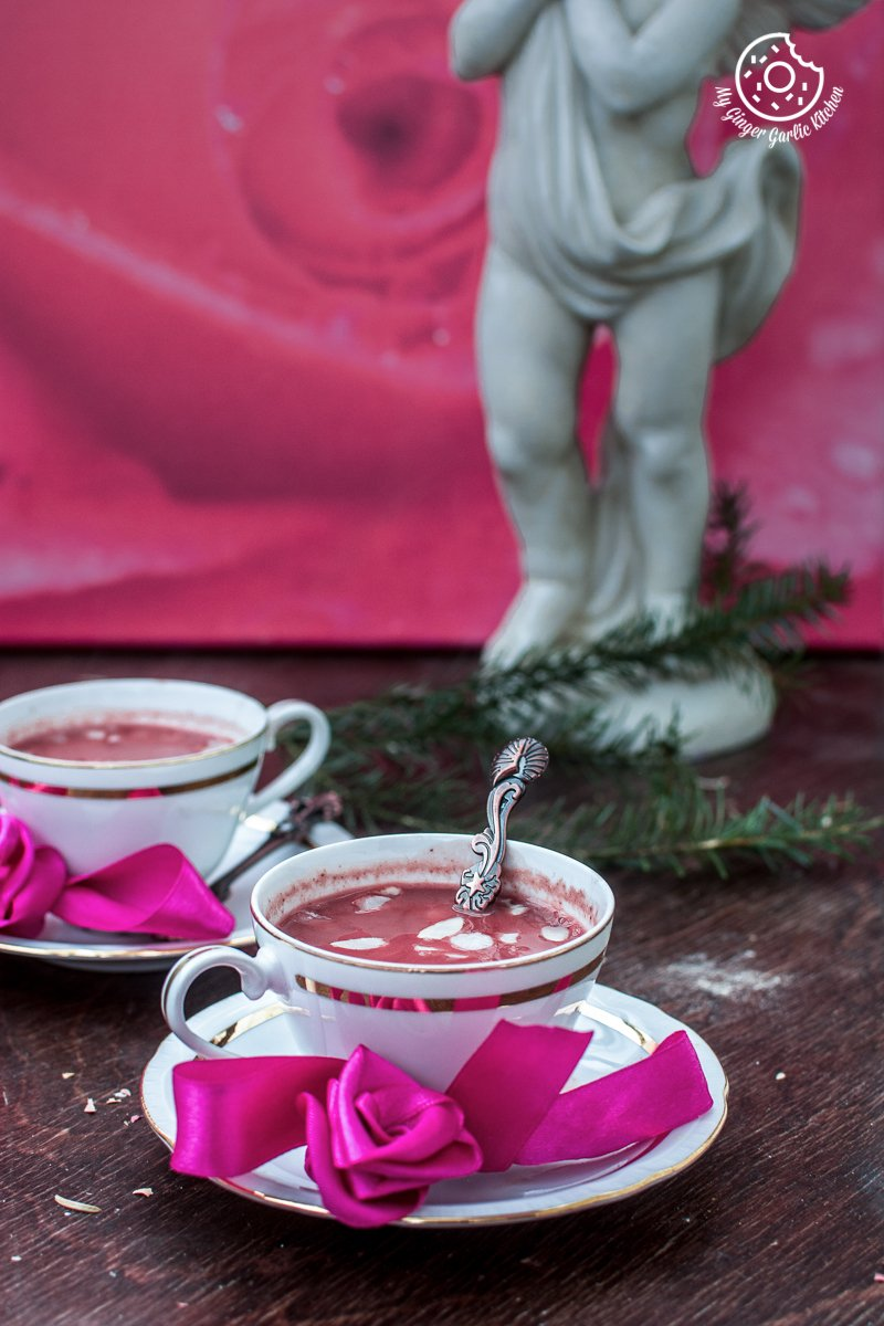 Kashmiri Pink Chai | Noon Chai | | mygingergarlickitchen.com/ @anupama_dreams