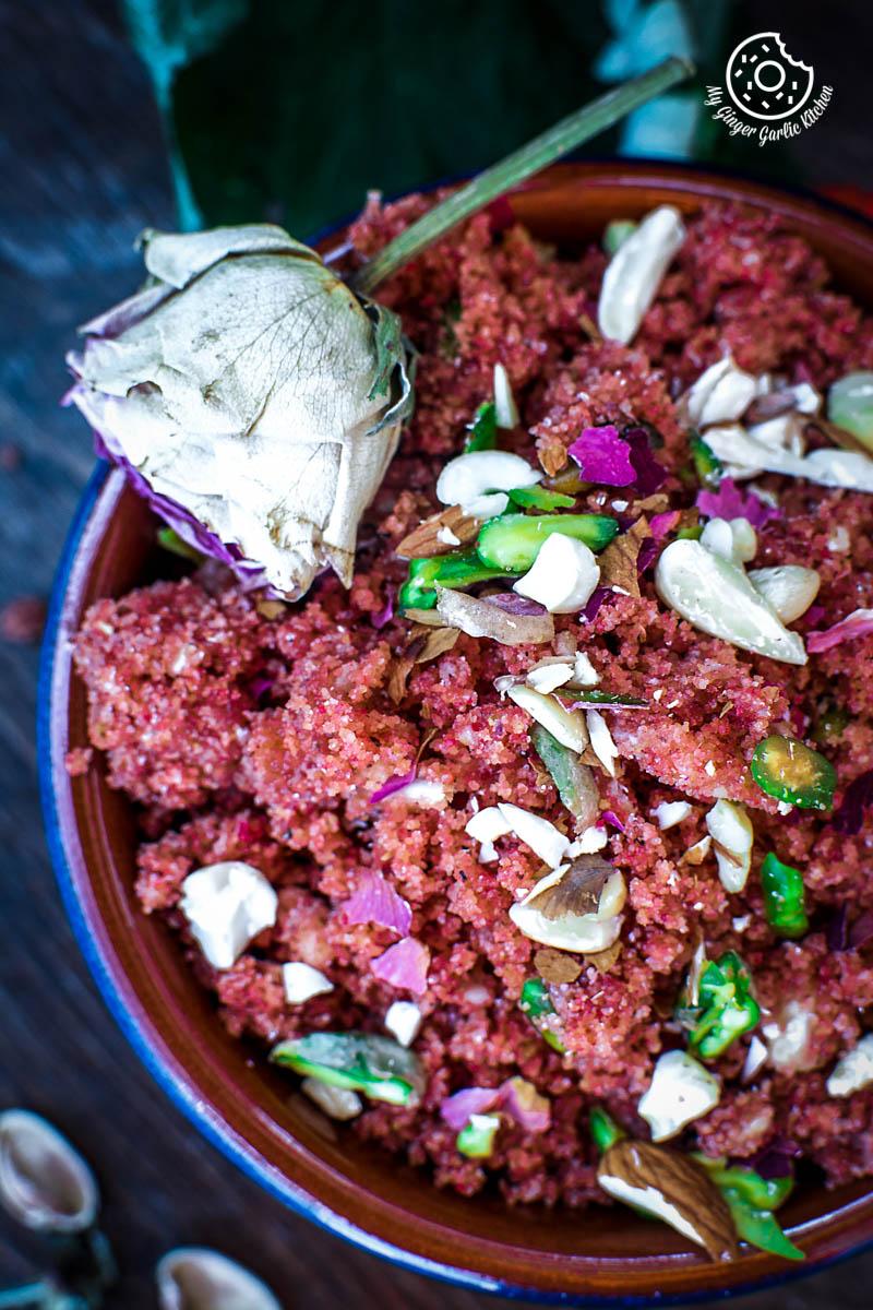 How To Make Rajasthani Gulab Churma | Rose Choorma Recipe | mygingergarlickitchen.com/ @anupama_dreams