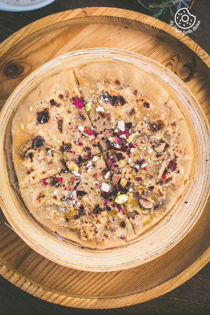 How to Make Gulkand Dessert Paratha With Gulkand Raita Recipe | | mygingergarlickitchen.com/ @anupama_dreams
