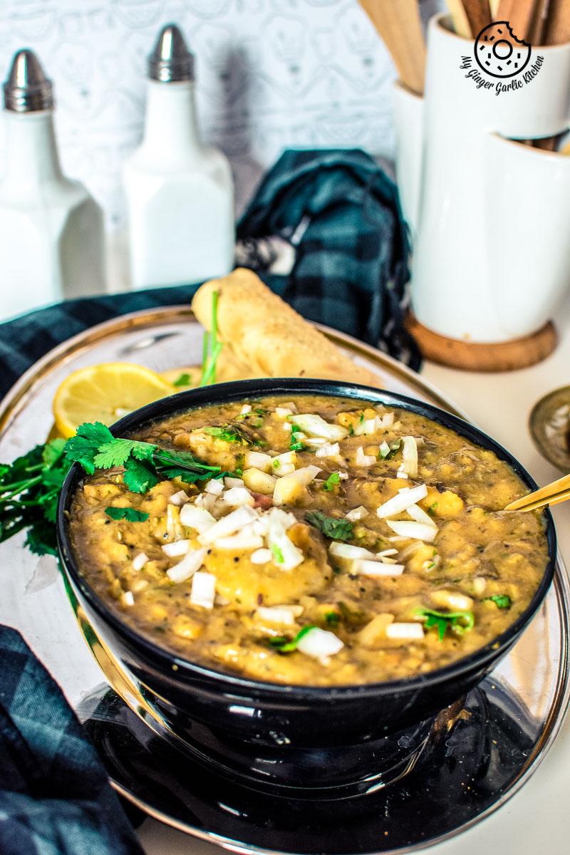 Exquisite Rajasthani Dal Dhokli Recipe - Whole Wheat Flour Dumplings Cooked With Seasoned Lentils Recipe     mygingergarlickitchen.com/ @anupama_dreams