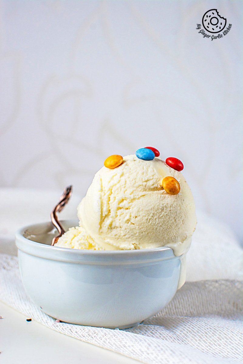 Vanilla Ice Cream Recipe | Easy No-Churn Homemade Ice Cream | mygingergarlickitchen.com/ @anupama_dreams