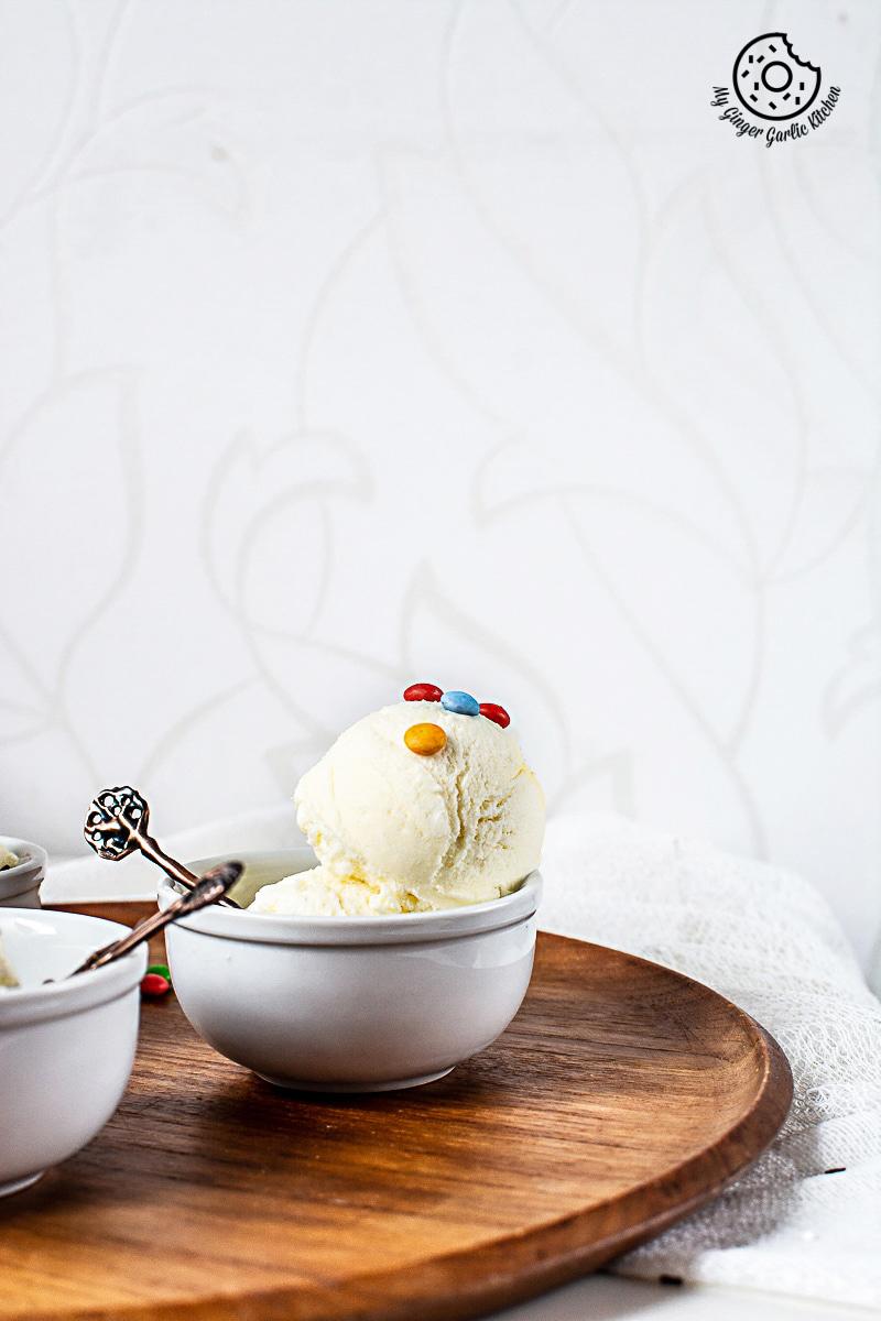 Vanilla Ice Cream Recipe   Easy No-Churn Homemade Ice Cream   mygingergarlickitchen.com/ @anupama_dreams