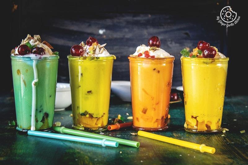 Mango Mastani Recipe | Mango Milkshake With Ice Cream | | mygingergarlickitchen.com/ @anupama_dreams