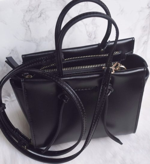 zara knotted mini city bag