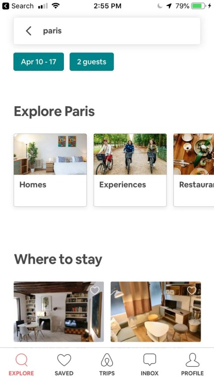 Airbnb is one of the best travel booking apps
