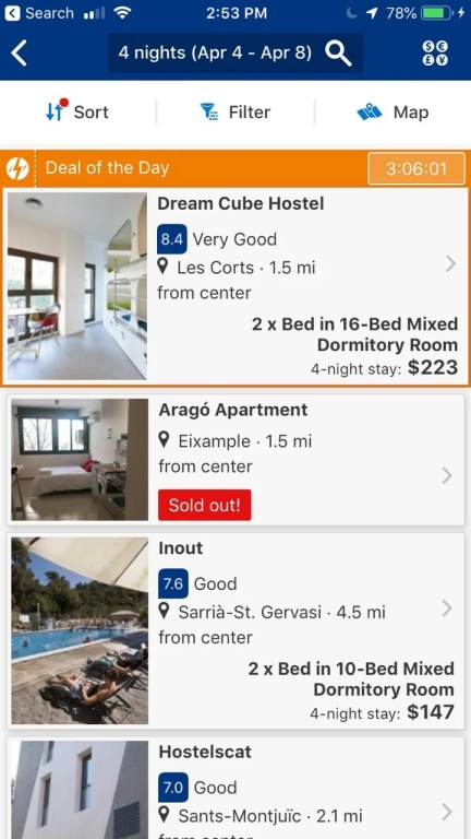 Booking.com is one of the best travel apps in 2019