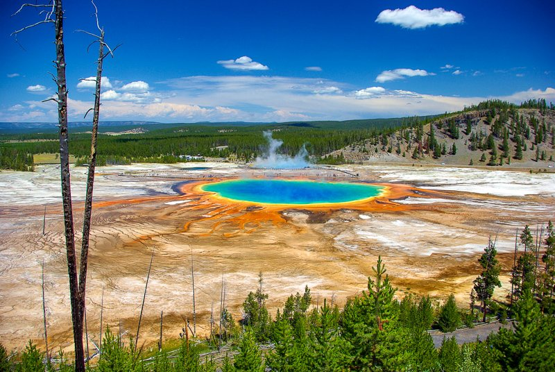 Yellowstone National Park in Montana is one of the world's greatest UNESCO World Heritage Sites.