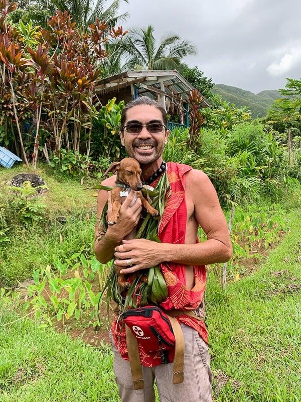 Greg Solatorio is a cultural practitioner in Molokai's Halawa Valley.