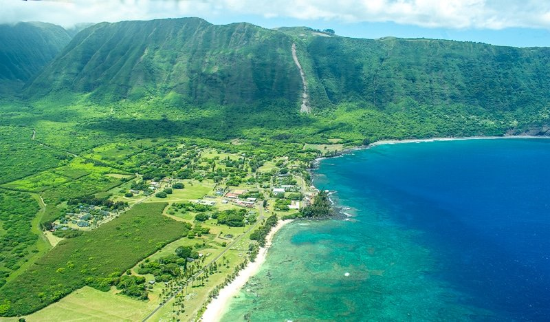 The flight to Molokai, Hawaii is an experience in and of itself