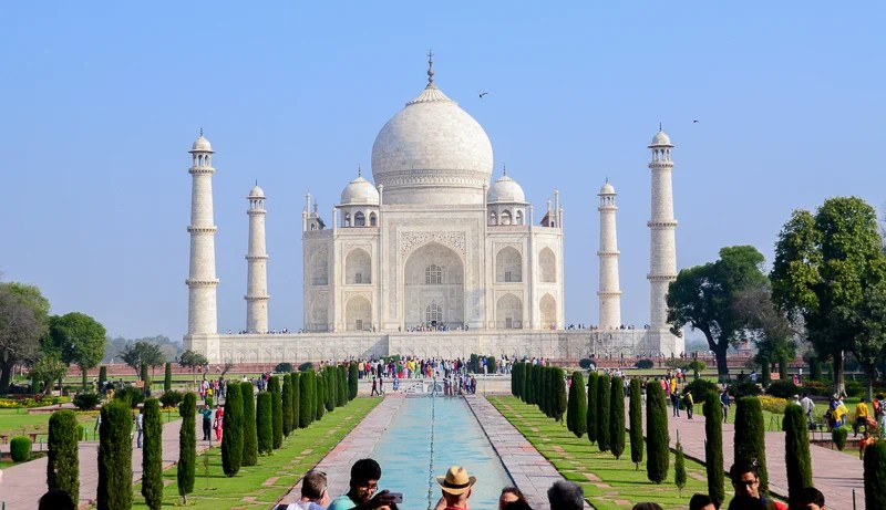 The Taj Mahal in India is definitely one of the most beautiful UNESCO World Heritage Sites.