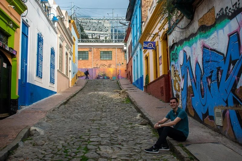 After all the walking, it was nice to sit down and enjoy the street art for a bit.