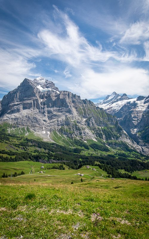 Grindelwald is a town and valley in the Bernese Alps. It's about an hour away from Bern.