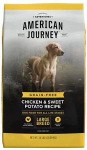 17 Best Dog Foods for Golden Retrievers Adults & Puppies. American Journey Large Breed Chicken and Sweet Potato