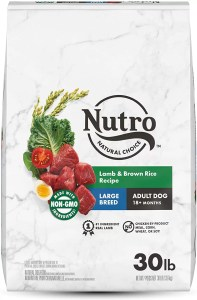 17 Best Dog Foods for Golden Retrievers & Puppies. Nutro Wholesome Essentials Large Breed Adult Lamb and Rice Recipe.