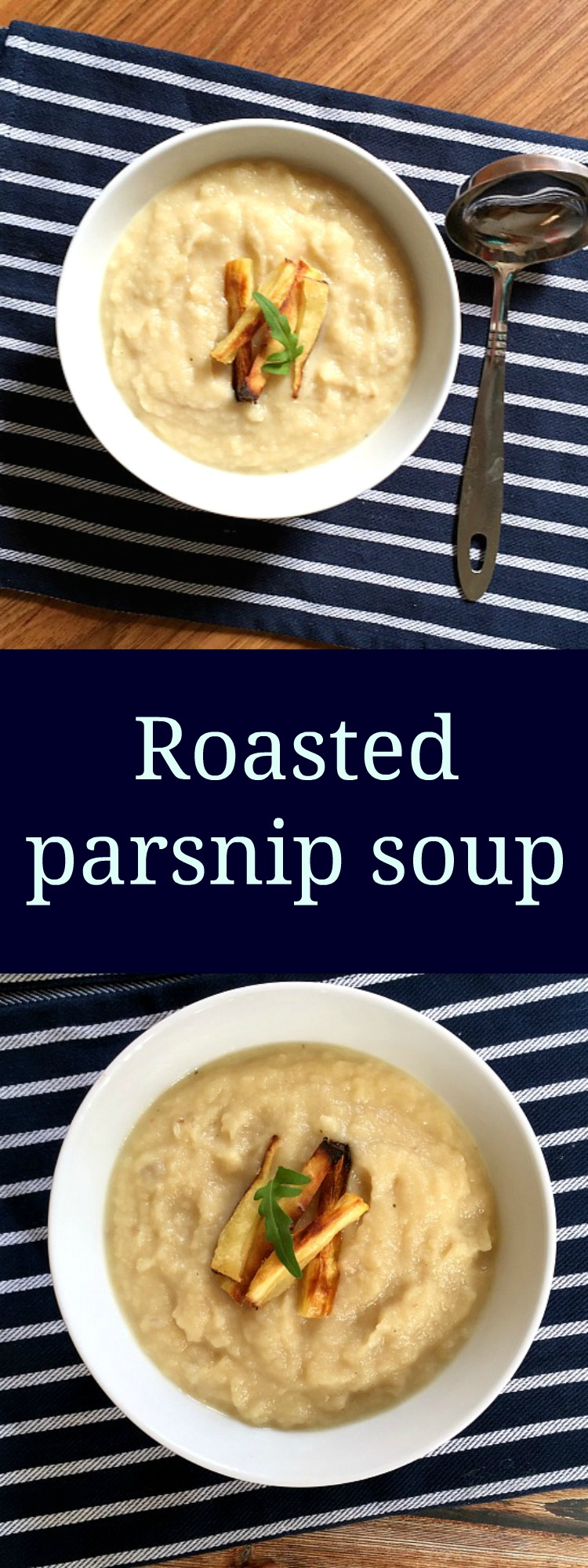 Roasted parsnip soup