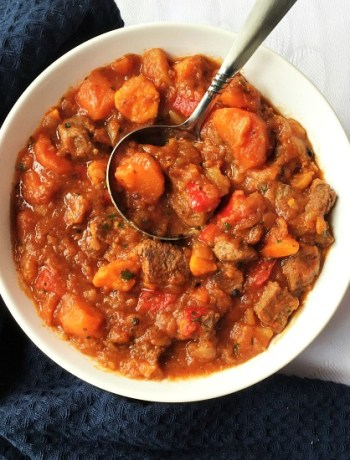 Beef and sweet potato stew recipe