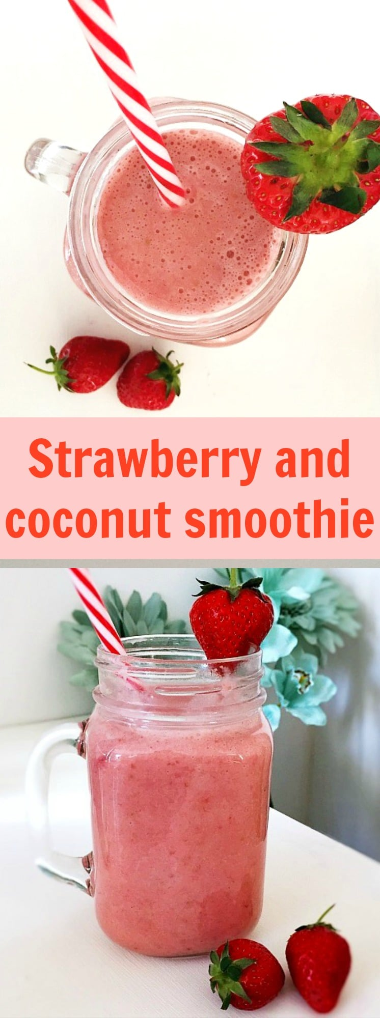 Strawberry Banana Coconut Milk Smoothie - My Gorgeous Recipes
