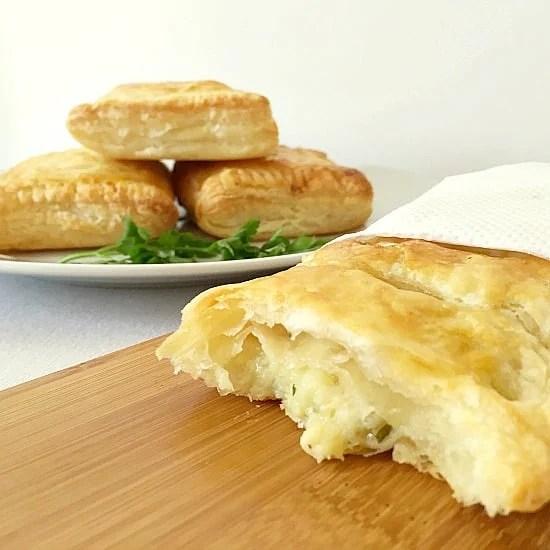 Cheese, onion and potato pasties