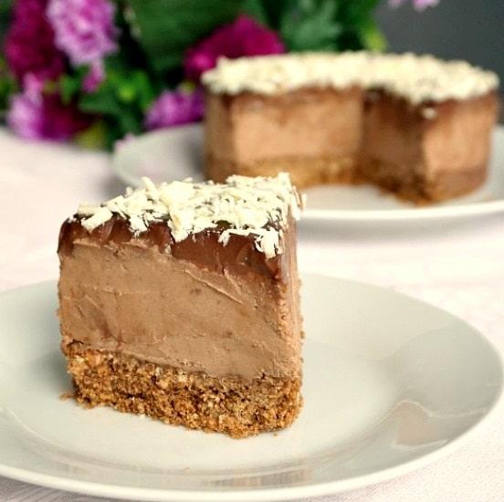 No-bake triple chocolate cheesecake with mascarpone