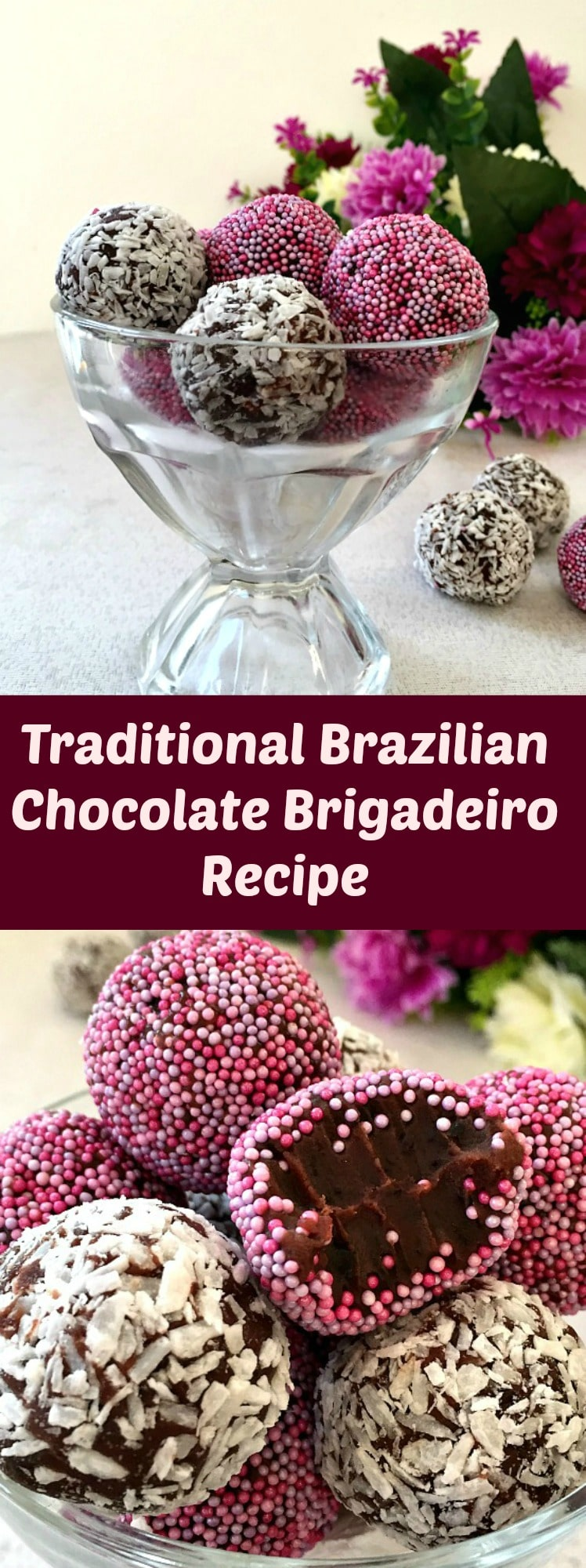 Traditional Brazilian Chocolate Brigadeiro Recipe, the bite-size treats that are so delicious. Kids absolutely love them, and grown-ups too.
