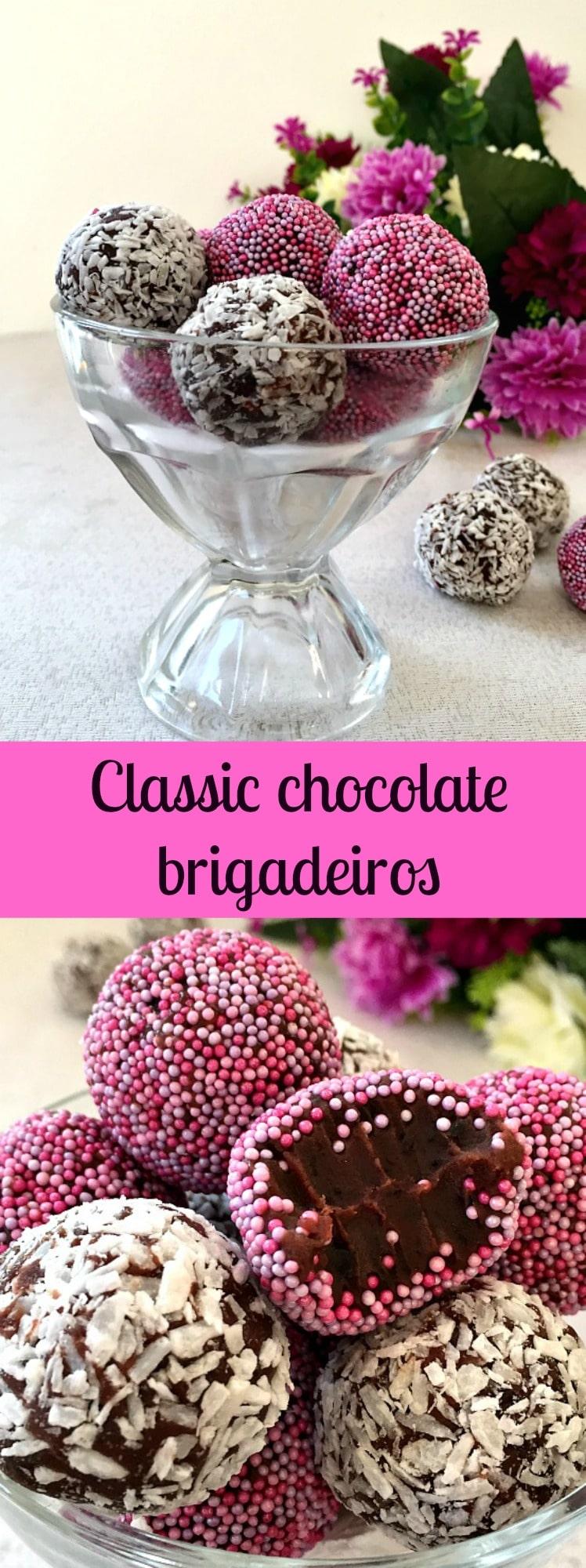 Classic chocolate brigadeiros