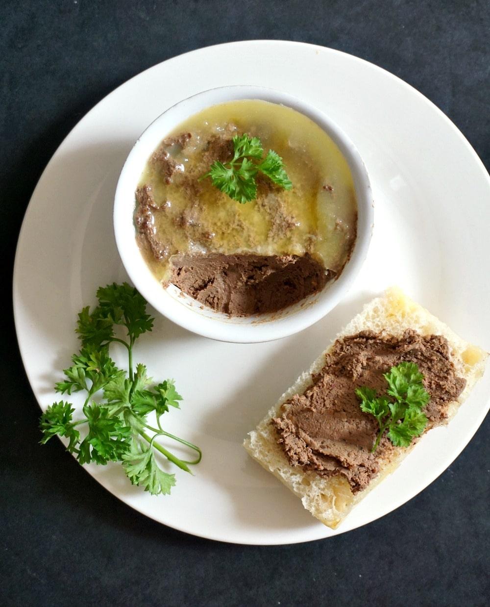 Quick chicken liver pâté