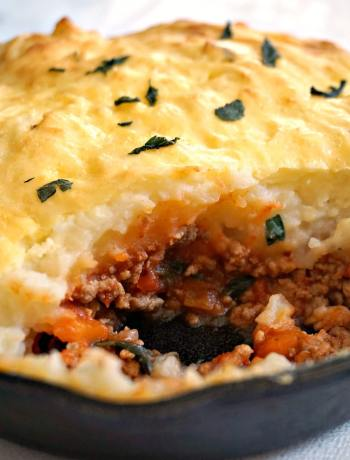 Skillet Shepherd's Pie with Ground Turkey