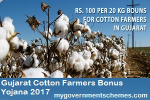 Gujarat Cotton Farmers Bonus Yojana 2017