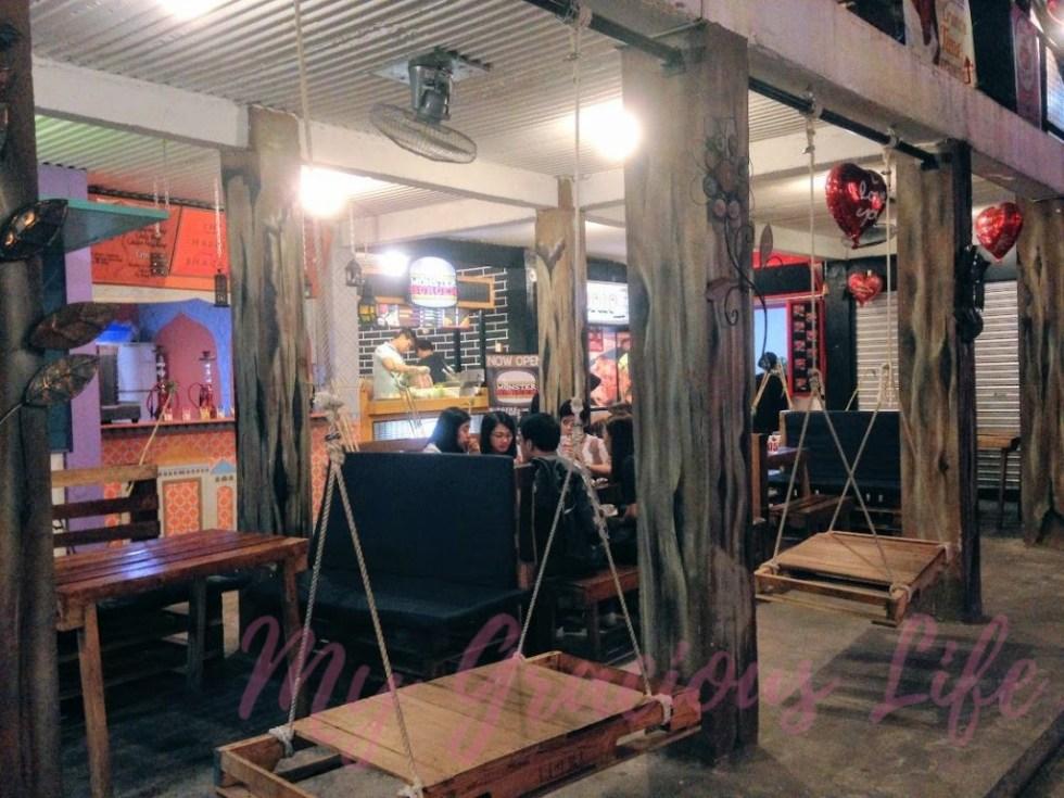 adventure food park swing sets