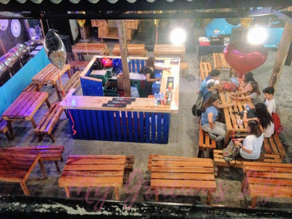 aerial view of adventure food park dining area