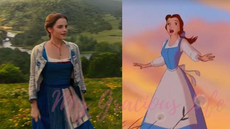 emma watson belle vs animated belle