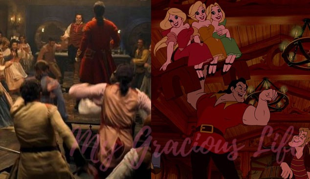 gaston song live action vs animated