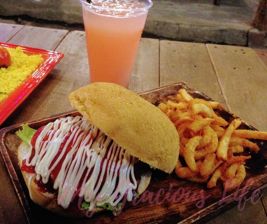 monster burger twister fries