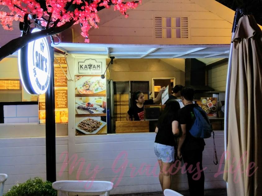 kazam kebab house at le village food park
