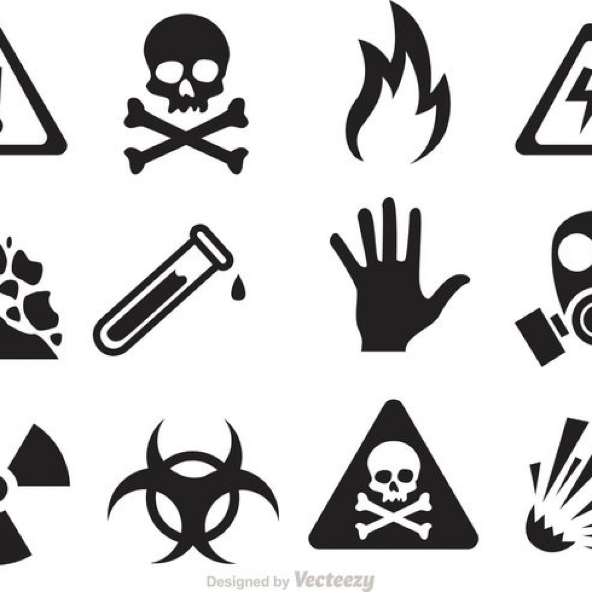 Free Vector Danger And Warning Icon Vectors