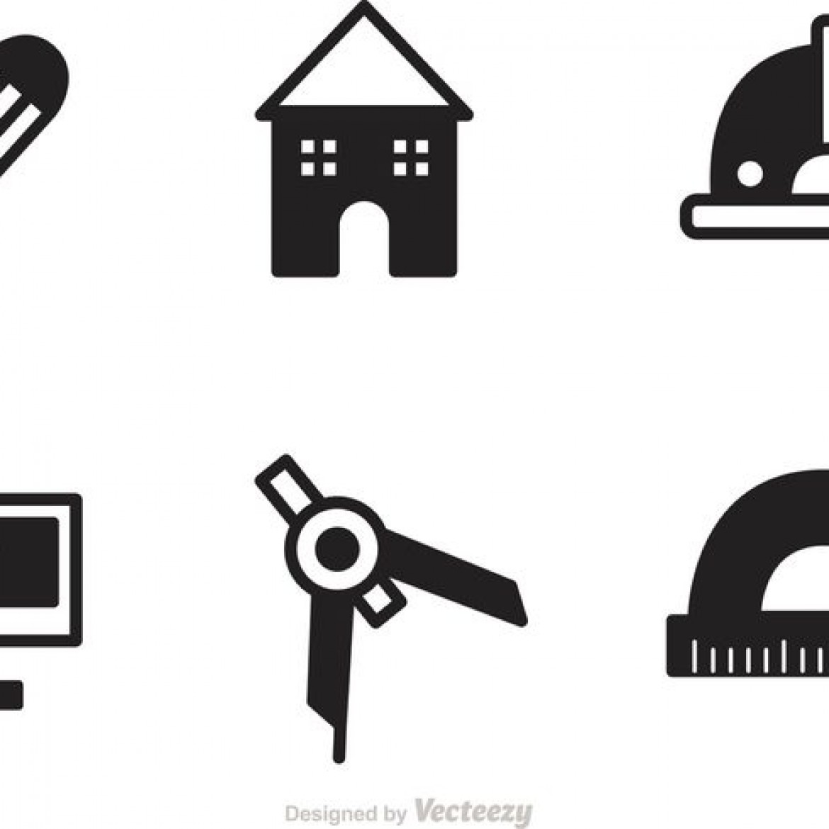 Free Vector Black Architecture Tools Icons Vector