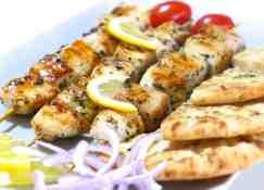 Greek Chicken Souvlaki (Skewers) recipe with Tzatziki sauce