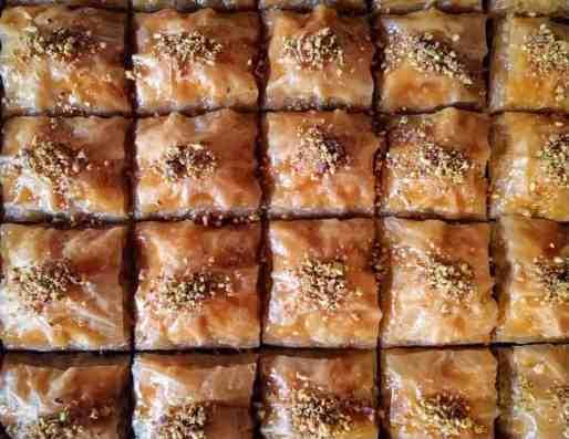 Traditional Greek Baklava recipe with honey and walnuts