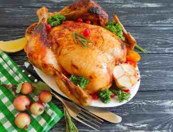 Festive Roast Turkey with Rosemary, Garlic and Lemon Sauce