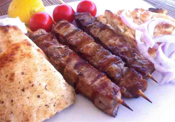 Pork Souvlaki (Skewers)