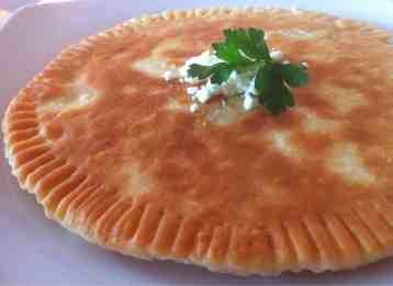 Fried Bread stuffed with Feta Cheese (Tiganopsomo)-7